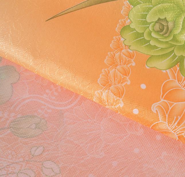 欧式玫瑰纸印花客厅遮光窗帘面料 可定制窗帘布批发