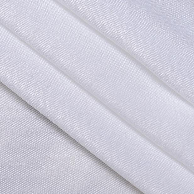 全涤纶2米平纹布/桌布 厂家直销纯白色简约平纹布漂白面料批发
